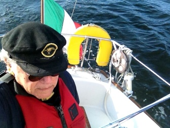 - Italian flag sailing at the Baltic. 17 sept 2014