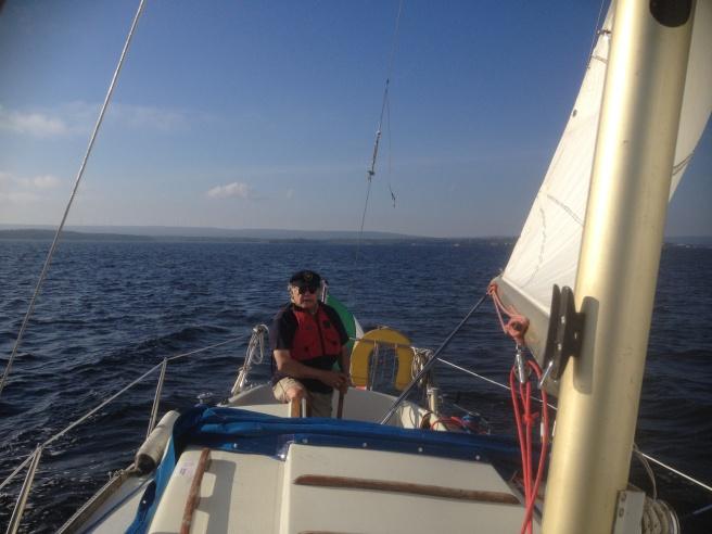 - Swe boat, Italian flag, the Baltic Sea. 17 Sept 2014