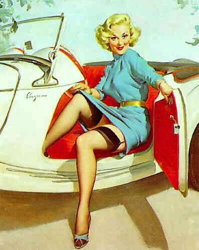 classic cars pinup